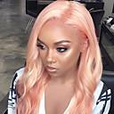 povoljno Perike s ljudskom kosom-3 paketi s zatvaranjem Brazilska kosa Tijelo Wave Remy kosa Jedan Pack Solution tkati Kosa potke zatvaranje 10-26 inch Rose Pink Isprepliće ljudske kose s dječjom kosom Nježno Za crnkinje Proširenja