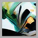 preiswerte Abstrakte Gemälde-Hang-Ölgemälde Handgemalte - Abstrakt / Menschen Modern Segeltuch