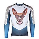 cheap Cycling Jerseys-ILPALADINO Men's Long Sleeve Cycling Jersey - White Fashion Bike Jersey Top, Fleece Lining Thermal / Warm Ultraviolet Resistant, Winter, Elastane