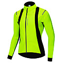 cheap Cycling Jersey & Shorts / Pants Sets-WOSAWE Men's Women's Cycling Jacket Bike Jacket Jersey Waterproof Windproof Sports Winter Green Mountain Bike MTB Road Bike Cycling Clothing Apparel Regular Bike Wear