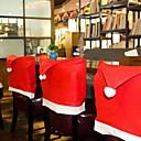 abordables Decoraciones Navideñas-Silla de navidad con tapa trasera decoracion navidad sombrero decoraciones de navidad para el hogar mesa de cena año nuevo cubierta de la silla de navidad