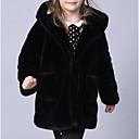 olcso Lány dzsekik és kabátok-Gyerekek / Kisgyermek Lány Alap Egyszínű Hosszú ujj Pamut / Poliészter Öltöny és blézer Fekete