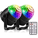 olcso Színpadi fények-YouOKLight 2pcs 3 W / 3 LED gyöngyök Távirányító Tompítható Trikolór Színpadi LED fények RGB 85-265 V Színpad Otthon / iroda Nappali / ebédlő