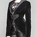 hesapli Korseler-Veba doktor Steampunk Kostüm Kadın's Palto Siyah / Kırmızı siyah Eski Tip Cosplay Polyester Uzun Kollu