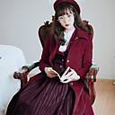 ieftine Costume Antice-Prințesă Vintage Elegant Costume Pentru femei Geacă N / A Negru / Gri / Roșu negru Vintage Cosplay Material Din Fâș Manșon Lung lolita