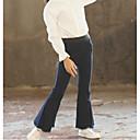 tanie Spodnie i getry-Dzieci Dla dziewczynek Podstawowy Codzienny Solidne kolory Długi rękaw Bawełna / Poliester Spodnie Granatowy 140
