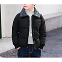 זול ג'קטים ומעילים לבנים-בנים בסיסי כותנה מכנסיים - אחיד חום