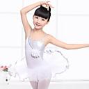 billige Dansetøj til børn-Ballet Kjoler Pige Træning / Ydeevne Polyester Blonde / Kombination Uden ærmer Naturlig Kjole