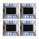olcso Kültéri lámpa és gyertyatartók-4db 2 W Lawn Lights / Led Street Light / Napfényes napfény Nap- / Dekoratív / fényvezérlő Fehér / Piros / Kék 1.2 V Kültéri világítás / Udvar / Kert 6 LED gyöngyök