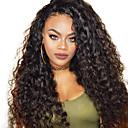 billige Blondeparykker af menneskehår-Remy hår Blonde Front Paryk Brasiliansk hår Vand Bølge Paryk 150% Hår Densitet med baby hår Blød Natural Hairline Sort Dame Mellemlængde Blondeparykker af menneskehår Guanyuwigs