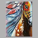 povoljno Apstraktno slikarstvo-Hang oslikana uljanim bojama Ručno oslikana - Sažetak Pop art Klasik Moderna Bez unutrašnje Frame / Valjani platno