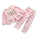 ieftine Lenjerie Fete & Șosete-Copil Fete Mată Manșon Lung Regular Regular Poliester Pijamale Roz Îmbujorat 100