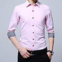 baratos Clutches & Bolsas de Noite-Homens Camisa Social Básico Sólido