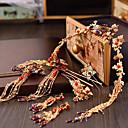 povoljno Komplet nakita-Žene Crvena Kosa Palice Vintage Style Gypsophila Etnikai Naušnice Jewelry Zlato Za Vjenčanje Party 1set