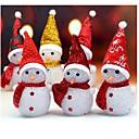 billige Kjøkkenutstyr og -redskap-1pc lyse opp glødende snøhvit snømann varm hvite leds christmas xmas dekorasjon tilfeldig farge