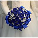 baratos Bouquets de Noiva-Bouquets de Noiva Buquês Casamento / Festa de Casamento Pedraria & Cristal / Seda 11-20 cm