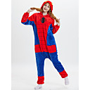 cheap Kigurumi Pajamas-Adults' Kigurumi Pajamas Anime Spider Onesie Pajamas polyester fibre Red Cosplay For Men and Women Animal Sleepwear Cartoon Festival / Holiday Costumes