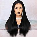 povoljno Perike s ljudskom kosom-Remy kosa Lace Front Perika Duboko udaljavanje Stražnji dio stil Brazilska kosa Yaki Straight Natural Perika 250% Gustoća kose s dječjom kosom Najbolja kvaliteta Rasprodaja Gust Žene Srednja dužina