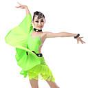 tanie Dziecięca odzież do tańca-Taniec latynoamerykański Sukienki Dla dziewczynek Szkolenie / Spektakl Elastyna / Lycra Kryształy / kryształy górskie / Dżety Bez rękawów Sukienka