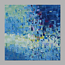 cheap Rolled Canvas Paintings-Oil Painting Hand Painted - Abstract Classic Modern Rolled Canvas