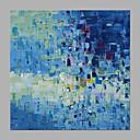 olcso Absztrakt festmények-Hang festett olajfestmény Kézzel festett - Absztrakt Klasszikus / Modern Anélkül, belső keret