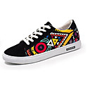 cheap Men's Sneakers-Men's Comfort Shoes Suede Spring &  Fall Casual Sneakers Rainbow / Black and White