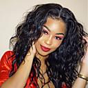 olcso Emberi hajból készült parókák-Szintetikus csipke front parókák Női Hullámos / Hullám Fekete Réteges frizura / Tincselve Szintetikus haj 24 hüvelyk baba hajjal / Természetes hajszálvonal / Afro-amerikai paróka Fekete Paróka Hosszú