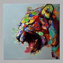 זול אומנות ממוסגרת-ציור שמן צבוע-Hang מצויר ביד - מופשט אומנות פופ קלסי מודרני ללא מסגרת פנימית / בד מגולגל