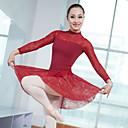 preiswerte Ballettbekleidung-Ballett Kleider / Turnanzug Damen / Mädchen Training / Leistung Elastan / Lycra Spitze Langarm Gymnastikanzug / Einteiler