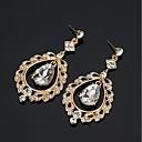 preiswerte Modische Armbänder-Damen Weiß Kubikzirkonia Vintage Stil Tropfen-Ohrringe - Retro Schmuck Gold / Silber Für Hochzeit Party 1 Paar