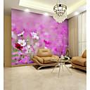 baratos Murais de Parede-papel de parede / Mural Tela de pintura Revestimento de paredes - adesivo necessário Floral / Padrão / 3D