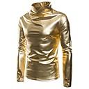 cheap Historical & Vintage Costumes-Men's Basic Long Sleeve Sweatshirt - Solid Colored Turtleneck Gold L / Winter