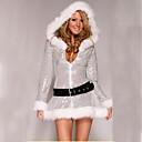preiswerte Santa Anzüge & Weihnachtskleid-Santa Anzüge Cosplay Kostüme Damen Teen Erwachsene Weihnachten Weihnachten Silvester Fest / Feiertage Austattungen Silber Urlaub