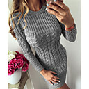 ieftine Băieți & Copil Plovere & Cardigane-Pentru femei De Bază Subțire Pantaloni Tricotat / Răsucit Bleumarin