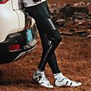 abordables Pantalones, Shorts y Mallas Ciclistas-SANTIC Hombre Mallas de Ciclismo Bicicleta Medias / Mallas Largas / Prendas de abajo Resistente al Viento, Transpirable Retazos Elastán Negro Intermedio Ciclismo de Montaña Diseño Semi-Form Fit Ropa