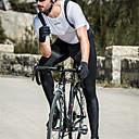 olcso Kerékpáros mezek és rövidnadrág/nadrág szettek-SANTIC Férfi Kerékpáros kantáros nadrág Bike Bib Tights Szélbiztos, Légáteresztő, Melegen tartani Egyszínű Elasztán Tél Fekete Középső Hegyi biciklizés Semi-form fit fazon Kerékpáros ruházat / Nyúlós