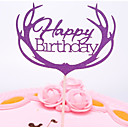 cheap Cake Toppers-Cake Topper Romance / Wedding / Birthday Stylish / Portable Pure Paper Anniversary / Birthday with Solid 1 pcs OPP