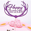 preiswerte Tortenfiguren & Dekoration-Tortenfiguren & Dekoration Romantik / Hochzeit / Geburtstag Stilvoll / Tragbar Reines Papier Jahrestag / Geburtstag mit Einfarbig 1 pcs OPP