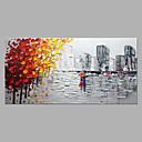 levne Krajiny-Hang-malované olejomalba Ručně malované - Abstraktní Krajina Moderní Bez vnitřní rám / Válcované plátno