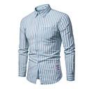 baratos Clutches & Bolsas de Noite-camisa de homem - gola de camisa listrada