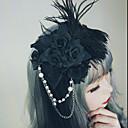 ieftine Accesorii Lolita-Lolita Accesorii Clipuri de Păr Vintage Gotic Pentru femei Negru / Gri / Roșu Art Deco Florale Vintage Veșminte de cap Imitație de Perle Material Denim Aliaj Costume