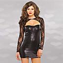 preiswerte Sexy Uniformen-Kleid Catsuit Hautenger Anzug Cosplay Zentai Kostüme Cosplay Kostüme Schwarz Solide Catsuit Kunstleder Polyester Maskerade