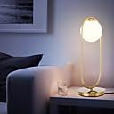 povoljno Proizvodi za njegu lica-nordijska jednostavna stolna svjetiljka staklo okrugla kuglasta svjetiljka metalni nosač svjetla za spavaću sobu radna soba metalni