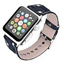 preiswerte Uhren Zubehör-Echtleder Uhrenarmband Gurt für Apple Watch Series 4/3/2/1 Schwarz / Blau / Braun 23cm / 9 Zoll 2.1cm / 0.83 Inch