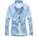 cheap Pins and Brooches-men's cotton shirt - solid colored classic collar
