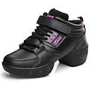 cheap Dance Sneakers-Women's Dance Sneakers Leather Sneaker Thick Heel Customizable Dance Shoes White / Pink / Black / Black / Gold