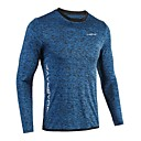 cheap Fitness, Running & Yoga Clothing-UABRAV Men's Crew Neck Running Shirt Sports Stripe Top For Running, Fitness, Workout Long Sleeve Activewear Breathable, Quick Dry, Sweat-wicking High Elasticity Loose - Dark Grey / Blue / Dark Navy
