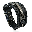 cheap Men's Bracelets-Men's Vintage Style Leather Bracelet - Leather Punk, European, Fashion Bracelet Black / Brown For Daily Street