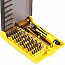 billige Skrutrekkere-6089a 45 i 1 utskiftbare skrutrekker verktøyet profesjonell telefon / PC / kamera reparasjonsverktøy med pincett hard forlengelse aksel