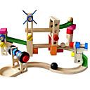 זול Building Blocks-אבני בניין השיש לרוץ מרוץ בנייה מסלול גולות 38 pcs יצירתי כדור תואם Legoing עבודת יד אינטראקציה בין הורים לילד כל צעצועים מתנות
